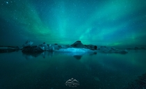 Jkulsrln Iceland at night  by Ignacio Municio