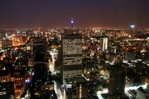 Johannesburg from Africas tallest building