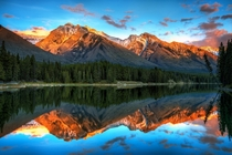 Johnson lake in Banff National Park Alberta Canada  by Michael Brandt