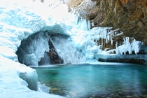 Johnston Canyon same waterfall but when it was frozen