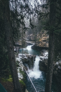 Johnston Canyon Trail Banff  IG andrewattsbro