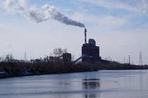 Joliet  Power Plant on the Des Plaines River Rockdale Illinois