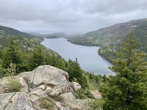 Jordan Pond from the Bubbles Acadia National Park