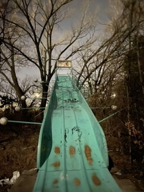 Joyland Wichita Kansas Taken on iphone  and yes I did go down it