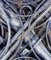 Judge Harry Pregerson Freeway Interchange in South Los Angeles California