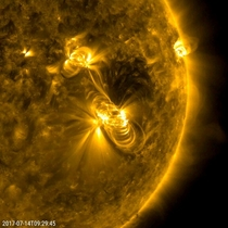 July  Solar Flare and a Coronal Mass Ejection lasting almost  hours