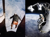 Jump from the edge of space  vs