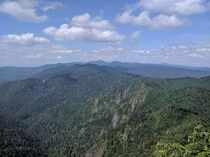 Jump Off Point off the Appalachian Trail in the Smokies NC x