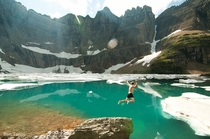 Jumping into Iceberg Lake