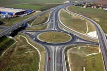 Junction on A highway  Constanta Romania