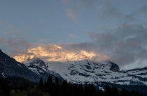 Jungfrau after a cloudy day