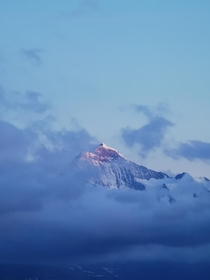 Jungfrau at cloudy sunset