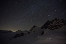 Jungfrau m at night - Swiss Alps