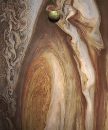 Jupiter and its fifth moon Io