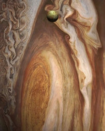 Jupiter and its fifth moon Io Credit NASA