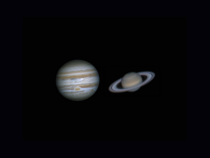 Jupiter and Saturn both taken near to their opposition times