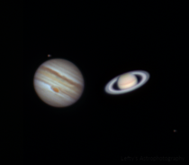 Jupiter and Saturn through a  Inch Telescope