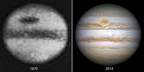 Jupiter as seen in  and  Weve come a long way