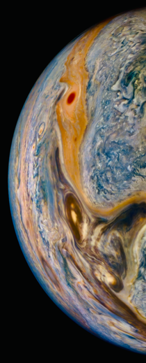 Jupiter photographed by NASAs Juno probe this Tuesday