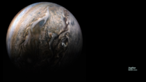 Jupiter Zoom Background with image from NASAs Juno