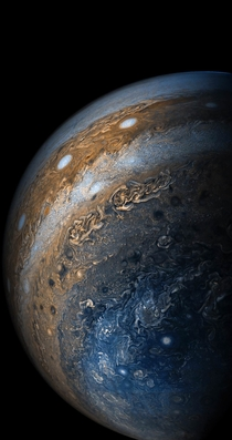 Jupiters clouds taken by the Juno spacecraft One of my absolute favorite space photos gives me chills every time I look at it