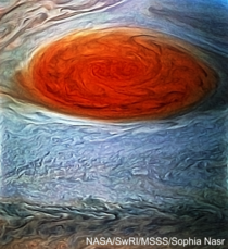 Jupiters Great Red Spot as seen by Juno on July   Processed by me Res