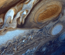 Jupiters Great Red Spot as seen from Voyager  in