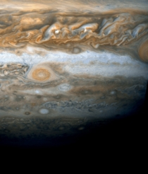 Jupiters Little Red Spot which appeared in  possibly signaling a change in Jupiters climate taken by the Hubble Telescope