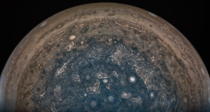Jupiters stormy south pole seen by Juno