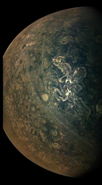 Jupiters upper atmosphere curtesy of the Juno probe