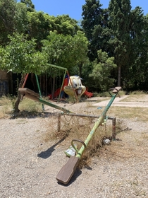 Just a creepy park in Rhodes Greece
