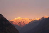 Just a few minutes before sunset in Kullu Himachal Pradesh India  Not edited