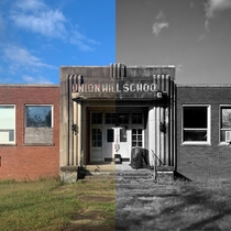just a lil picture of an abandoned Art Deco school to show how important editing is
