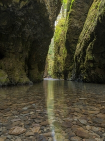 Just a short drive from Portland is Oneota Gorge Oregon