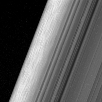 Just above Saturns rings Cassini dives closer than ever before