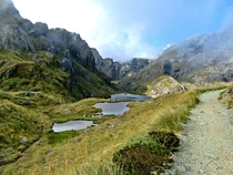 Just after Lake Harris on the Routeburn Track New Zealand