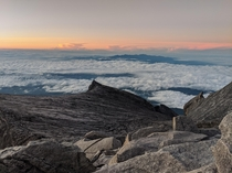 Just after sunrise on Mount Kinabalu Malaysian Borneo