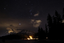 Just another Banff photo with Orions Belt Sirius and Betelgeuse  x