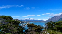 Just another blue lake in Torres del Paine Chile Patagonia