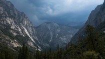 Just before a rainstorm in Kings Canyon National Park CA this summer