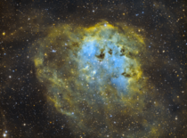 Just finished my first Hubble Palette image from Anchorage Alaska - IC  - The Tadpoles