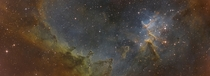 Just finished my  hour exposure  panel mosaic of the Heart Nebula IC  Melotte-