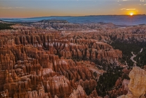 Just finished my tour of all  National Parks in Utah Hopefully everyone gets a chance to visit this beautiful state in their lifetime - Bryce Canyon National Park -