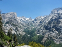 Just finished the High Sierra Trail This is looking up towards Hamilton Lakes in Sequoia NP
