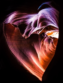 Just got back from an epic roadtrip and one of our stops was also Antelope Canyon The Heart of the Canyon
