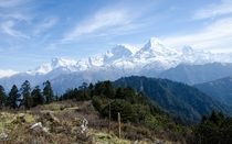 Just got back from trekking in the Himalayas Annapurna South the mountains almost look like they were photoshopped in