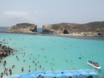 Just got back from visiting family in Malta This is the water at the Blue Lagoon in Comino
