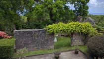 Just looked out the window and realised Id never thought to post the ruins in my own garden Plantation House Barbados