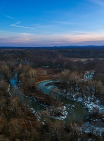 Just outside a city can be beautiful views sunset over the Normans Kill Albany NY