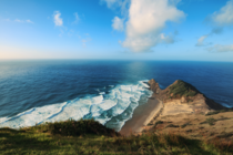 Just sitting there and watch the waves My kind of happiness Cape Reinga New Zealand